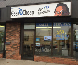 Geek4Cheap @ 455 Grand Ave E ★ $64 Flat Rate Computer Clean Up