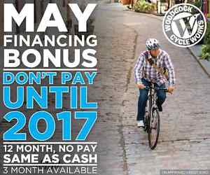 Woodcock Cycle May Financing - Don't Pay Until 2017