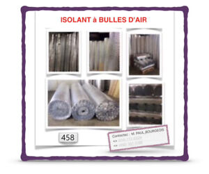 (#.02-450)  ~ | 0.10$ /P.C | ~ | ISOLANTS À BULLES D'AIR | ~