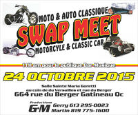 swap meet motorcycle and classique car