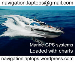 Marine chartplotter GPS navigation systems with charts
