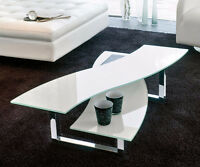 Helix White/Silver Coffee Table