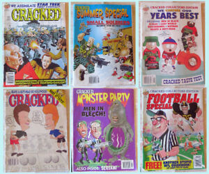Lot of 6 Cracked Magazines from 1997 & 1998