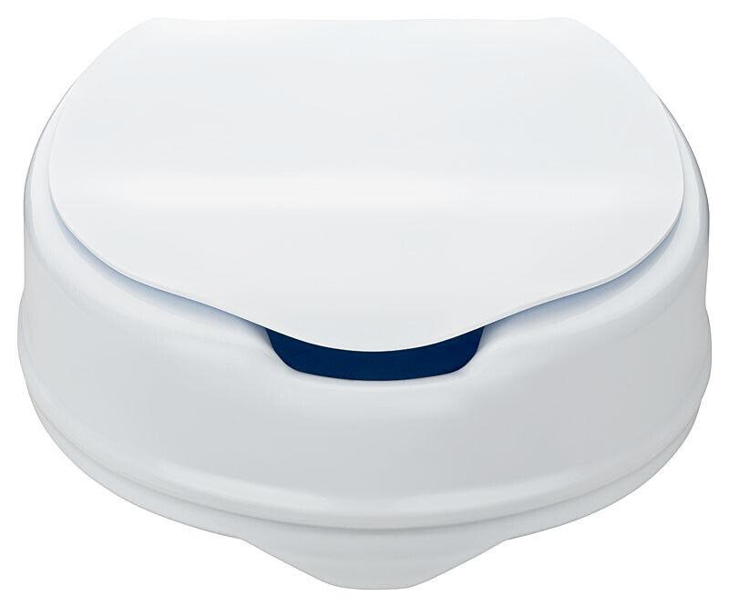 1PLUS Health WC Sitz Erhöhung Toilettensitzerhöhung Toilettenaufsatz mit Deckel