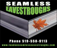 Seamless eavestroughs!