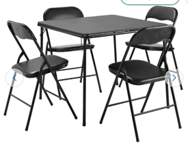 Brand new folding table and chairs