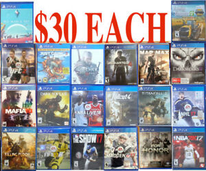 PS4 GAMES ( $30 EACH **A**) PICK UP ONLY - Playstation 4