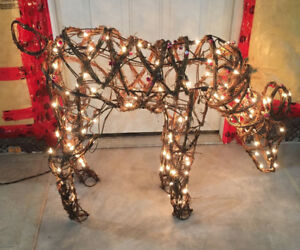 Reduced Price: Decorative Pre-lit Reindeer Set