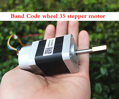 Encoder 35 Stepper Motor Two-phase 4 Wire Band Code Wheel Step Angle 1.8