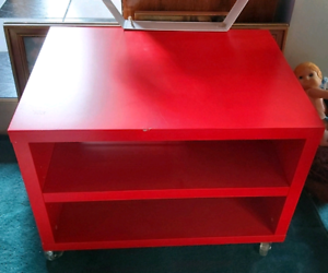 Table IKEA ODDA onCasters2 Shelves verySolid 61X45.Must go $29.00