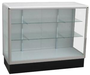 Store Display Glass Showcase / Shelf / Cabinet. 38H x 48W x 20D. 3 Glass Shelves. For Jewelry, Phone, Shoes. Watch Shop