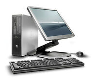 """Wireless HP PC,C2D 3GHz/2G/160G+HP 19"""" LCD+Keybrd,Mouse,Pwr Cord"""