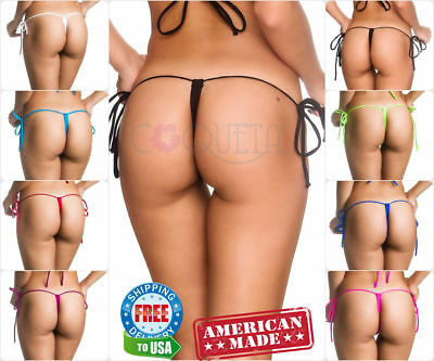 women s COQUETA G STRING bikini bottom MICRO BRAZILIAN  Swimwear TEENY THONG HOT