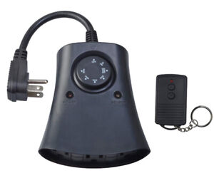 Woods Outdoor 24-Hour Photoelectric Timer w/ Remote, 3 Outlet