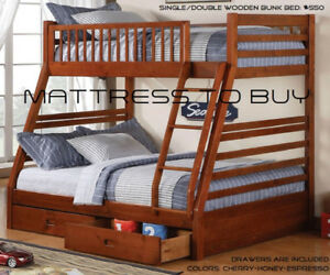 Wooden/Metal Bunk Beds Single-Single Single-Double Double-Double