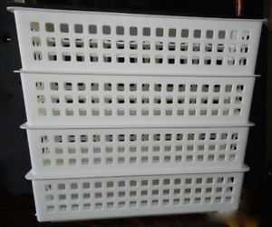 New 7Pc Clean White RubberMaid Cabinet Storage