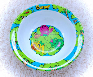 Vintage Barney Melamine Bowl Child's Kids Baby Infant Children's