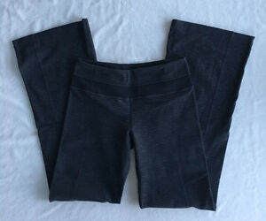 Lululemon Groove Yoga Sweat Pants - Textured Black Pique - Sz 4