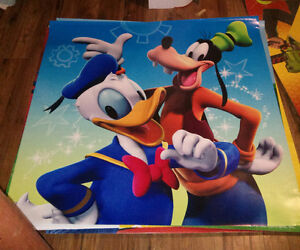 Donald duck and goofy poster. Huge. 48inch X 48inch