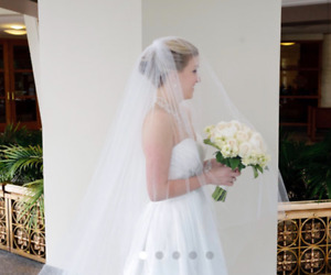 NEW Wedding Veil/White/2 Tier/Cathedral & Ballerina Length
