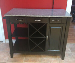Marble Top Wine Cabinet