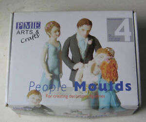 PME ARTS & CRAFTS PEOPLE MOULDS  SET OF PDEOPLE MOULDS 4