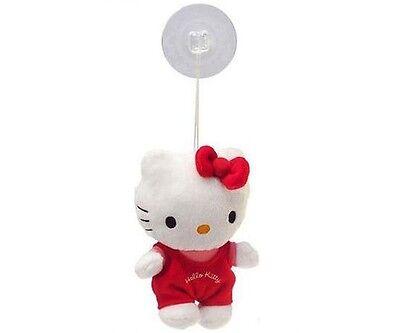 ♥ Hello Kitty Plüschfigur mit Saugnapf - Auto 15 cm Plüsch - Kuscheltier NEU ♥