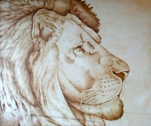 Hand burned or pyrography art pieces