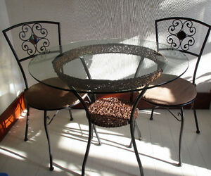 Pier1 Bistro Glass Table & Chairs
