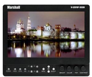"""Moniteur vidéo Marshall Electronics V-LCD70XP-3GSDI-SB 7"""" LCD"""