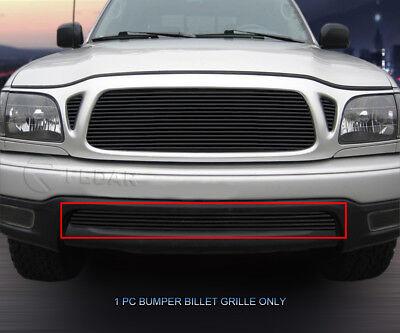 Black Bumper Billet Grille Insert For 2001 2002 2003 2004 Toyota Tacoma 2WD