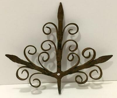 Individual Hand-Forged All-in-1 Spike Nail Spiral Scroll Wrought Iron Wall Hook