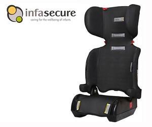 Infa Secure Versatile Folding Booster Car Seat 4-8 years Kid Child Infant Black