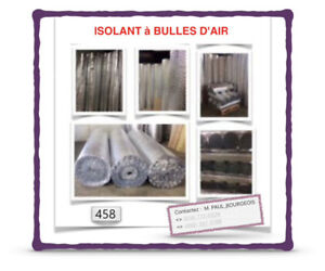 (#2) ~ | 0.10$ /P.C | ~ | ISOLANTS À BULLES D'AIR | ~