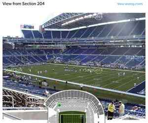 Seahawks Vs Panthers-Sec 204 Row C!