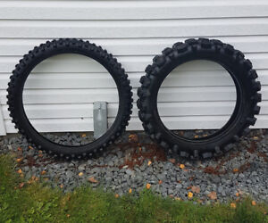 TOUGH MX Tires off a XR650R - $25 for both!!