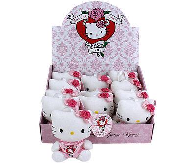 ♥ Hello Kitty 3-D Badeschwamm Secret Love Kleid - 14 cm - Plüsch Schwamm - NEU ♥