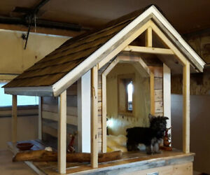 insulated dog house with customized features