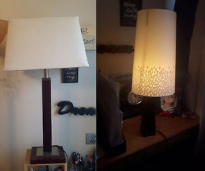 Two off white lamps - works well