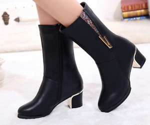 Newest Design in 2019! -Women Boots with Crystal Accent -NEW!