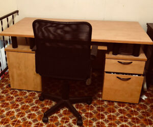 Used Office Desk with Chair