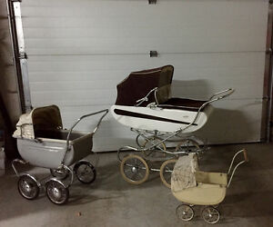 Antique baby and doll buggies
