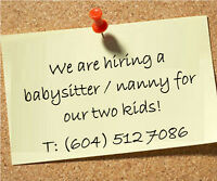 Nanny for afternoons ( full time or part time ), West Vancouver
