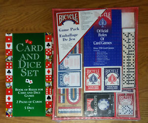 2 NEW 250 Games Pack and Card and Dice Set