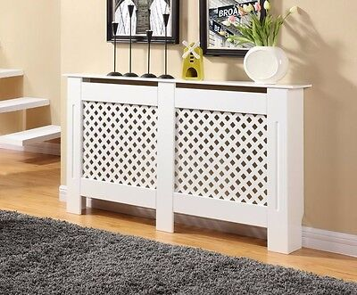 White Radiator Cover Cabinet Wood Mdf Diamond Grill Design