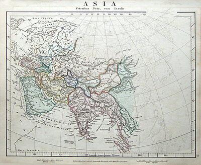 ASIA Arrowsmith original classical antique map 1828