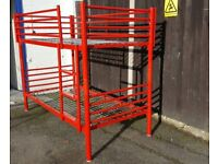 Jay-Be Red Metal Bunk Beds Frame or 2 single beds frames