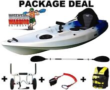 Fishing Kayak Package with Life Jacket, Trolley SINGLE SIT ON TOP Erina Gosford Area Preview