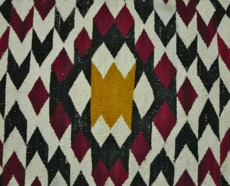 Antique Navajo Rug Native American Indian Weaving Tapestry Textile