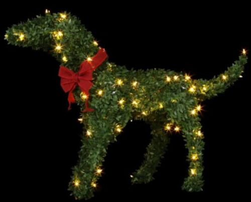 Unbranded Christmas 28 in. Topiary Labrador Dog